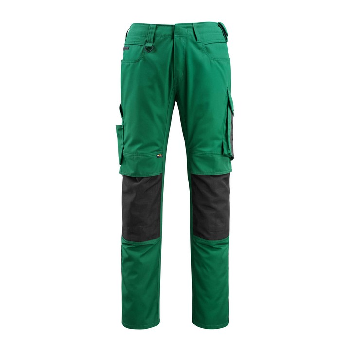 Mascot - Pantalon avec poches genouillères - CORDURA® - poids léger vert