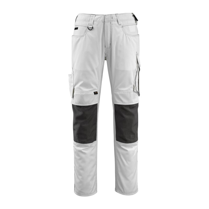Mascot - Pantalon avec poches genouillères - CORDURA® - poids léger blanc