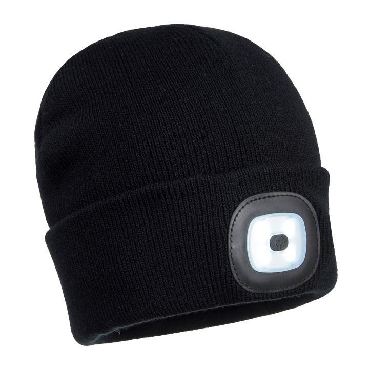 Portwest - B029 - Bonnet Beanie avec LED rechargeable - Noir