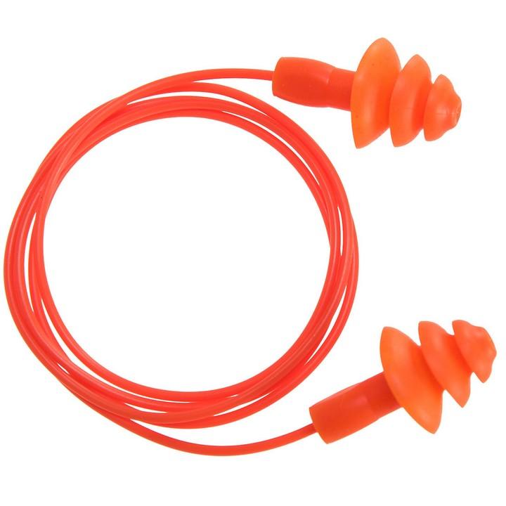 Portwest - EP04 - Bouchon d'oreille TPR avec cordon réutilisable Orange (50 paires)