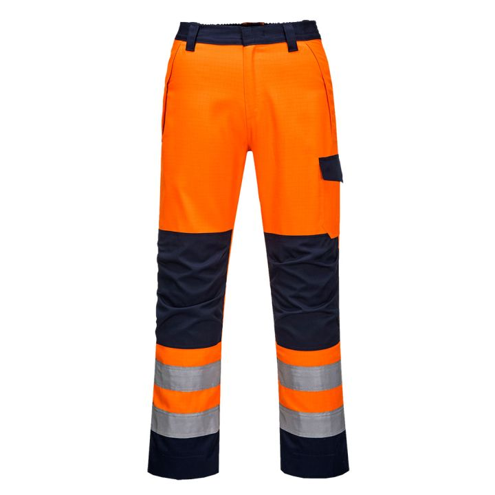 Portwest - MV36 - Pantalon Orange/Navy Modaflame GO/RT - Orange/Marine