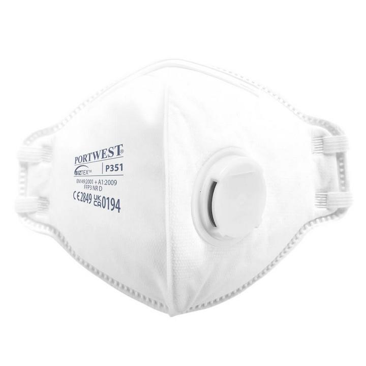 Portwest - P351 - Masque FFP3 pliable, anti-poussières et anti-brouillards