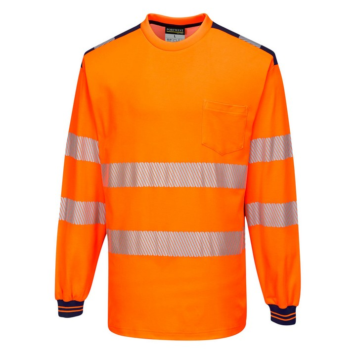 Portwest - T185 - T-Shirt Haute Visibilité PW3 Manches longues