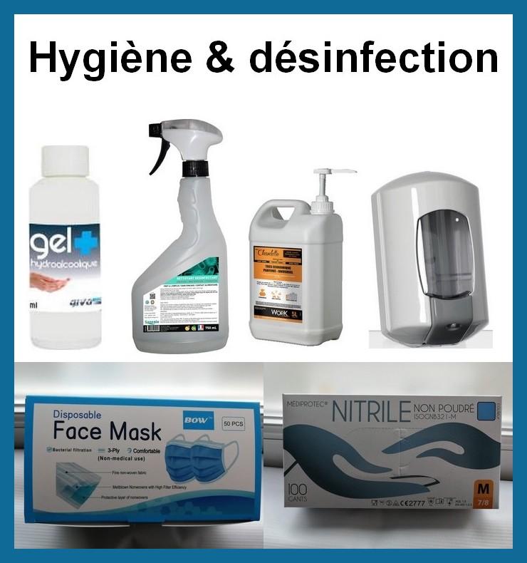 Produits d'hygiène & désinfection- spécial COVID_19
